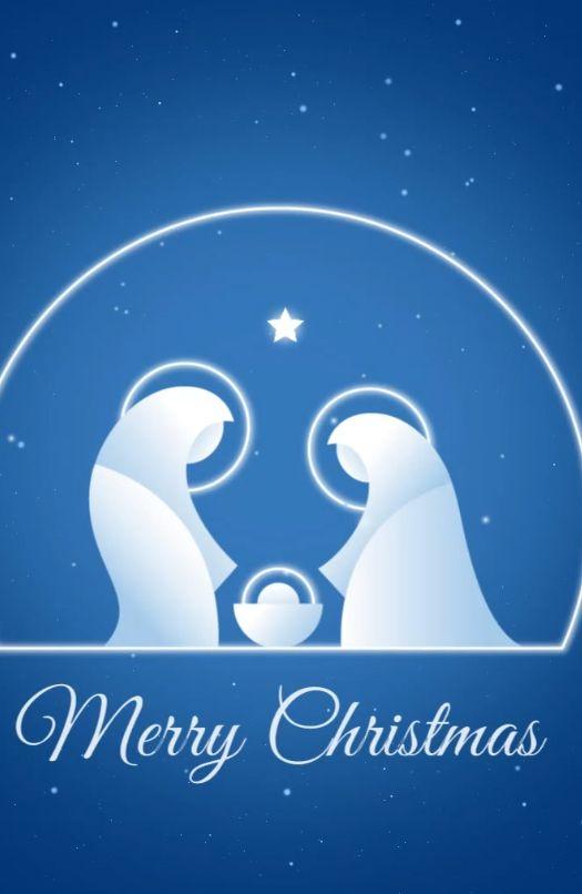 Beautiful Christmas Nativity Scene animated screensaver