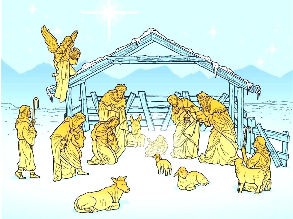 Free Vector   Cute nativity scene