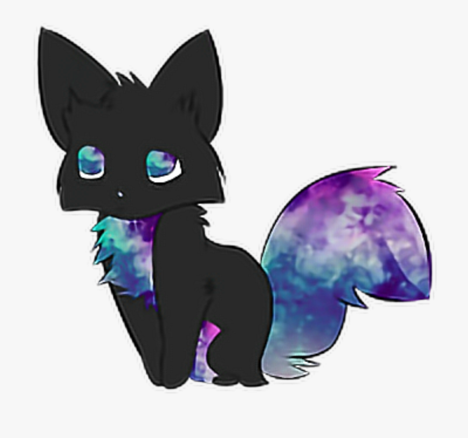 His Kitty Transparent Background Cute Anime Galaxy Cat