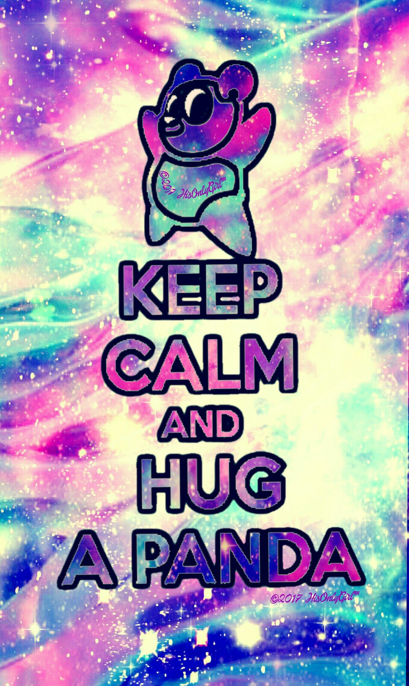 Keep calm Panda galaxy wallpaper I created for the app