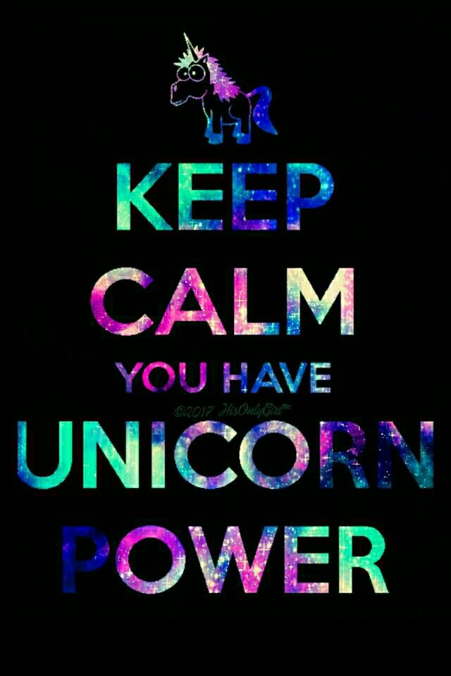 Unicorn power iPhoneAndroid galaxy wallpaper I created for