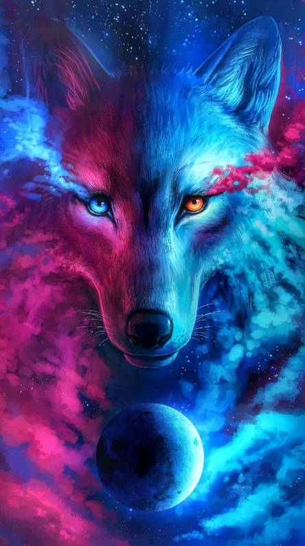 Galaxy wolf Wallpapers Free by ZEDGEa cent
