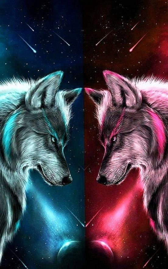 Galaxy Wolf Wallpapers Posted By Christopher Mercado