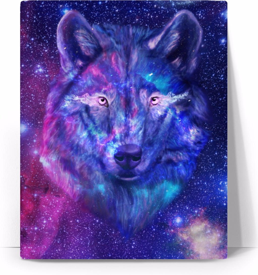 Galaxy Cool Wolf Wallpapers 610x1084px Galaxy Wolf