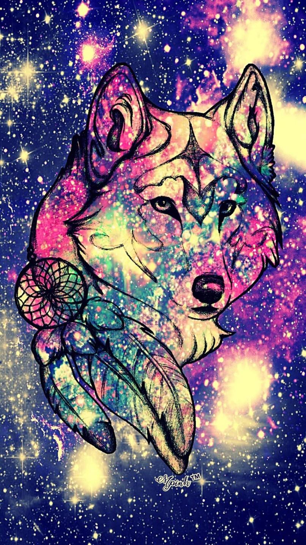 Wallpaper Wolf Galaxy Djiwallpaper.co