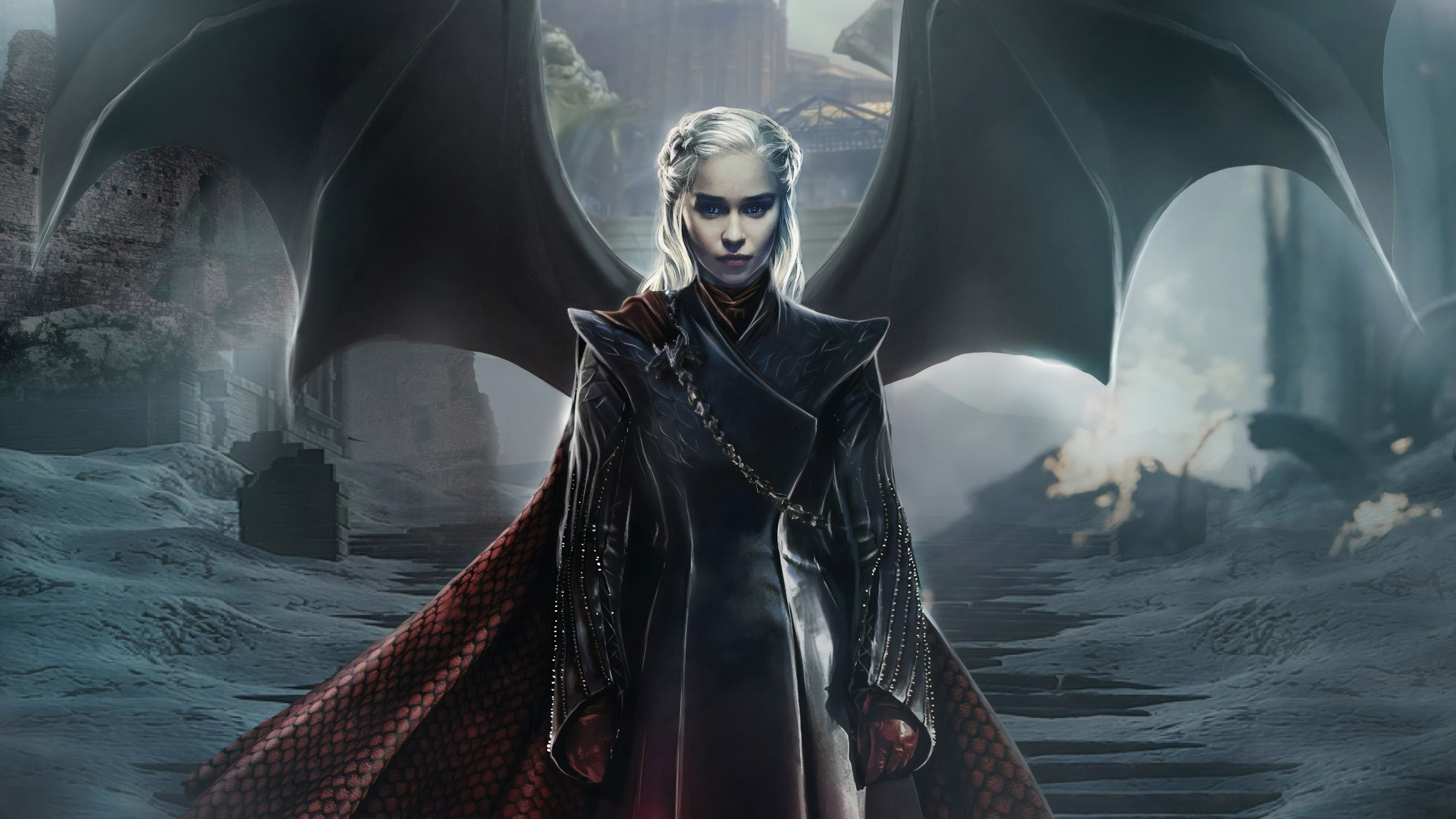 Daenerys targaryen game of thrones season 8 Wallpaper Poster 24 x 14 inches