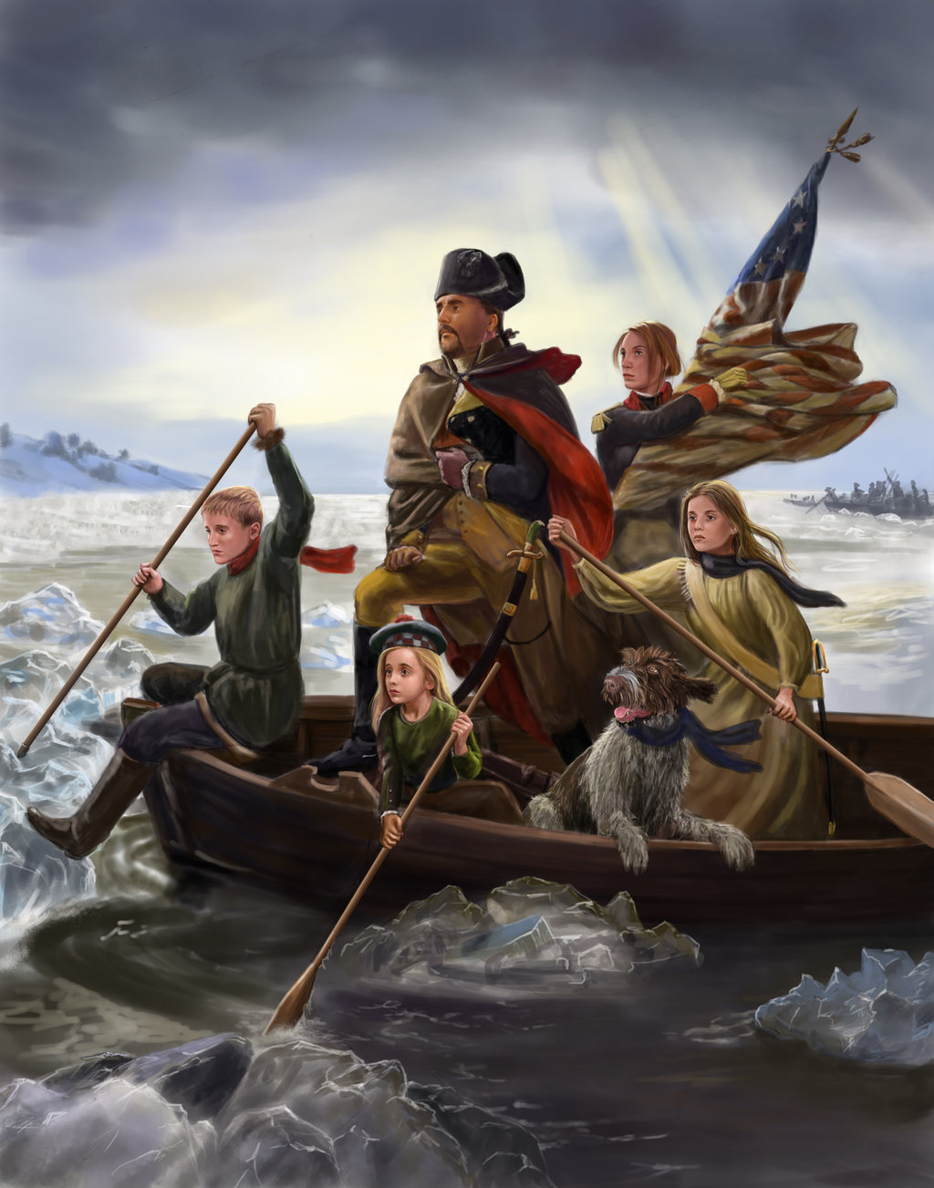 George Washington Crossing The Delaware Wallpaper Posted By John