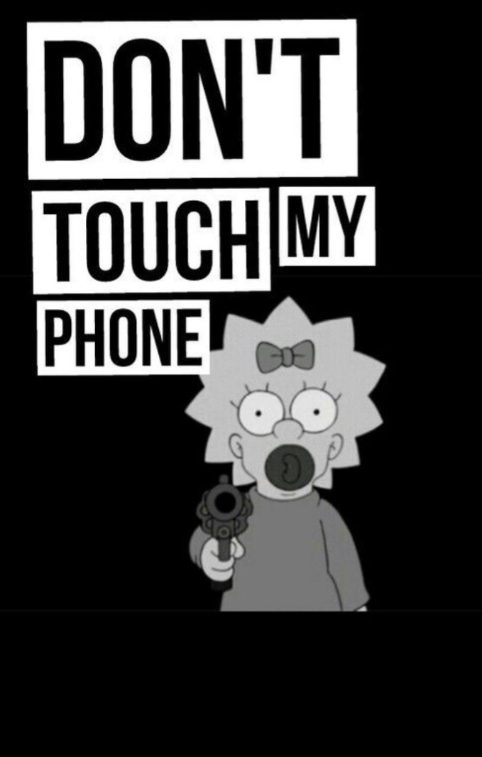 Iphone 6 Dont Touch My Phone Stitch Wallpaper