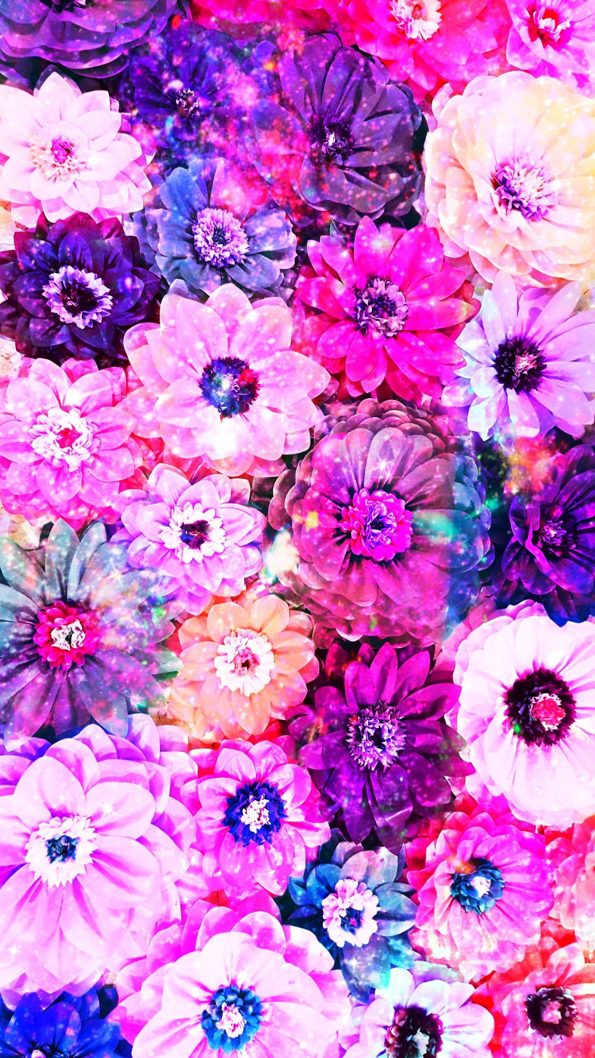 Pretty Galaxy 3D Flowers, made by me patterns purple