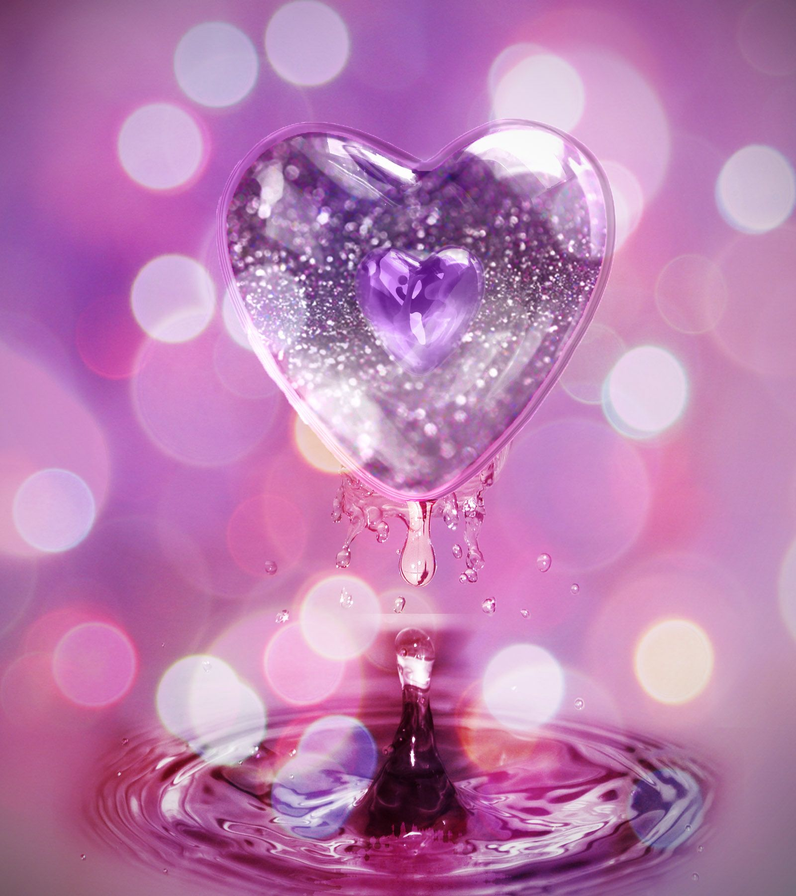 Glitter Hearts Glitter Heart Wallpaper Hd Download