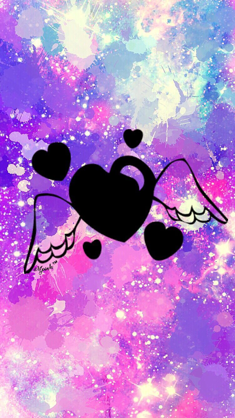 Cute Glitter Unicorn Wallpaper Angel Heart Galaxy Wallpaper