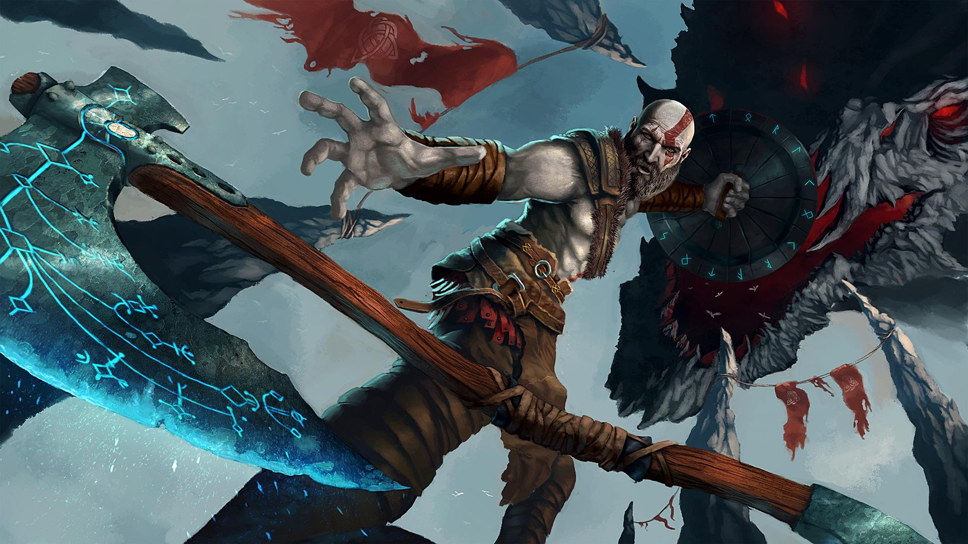 God Of War 4 4k Wallpaper posted by Samantha Sellers