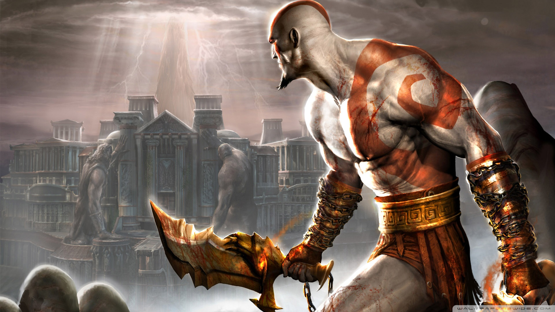 God Of War Wallpaper 1920x1080 Posted By John Anderson