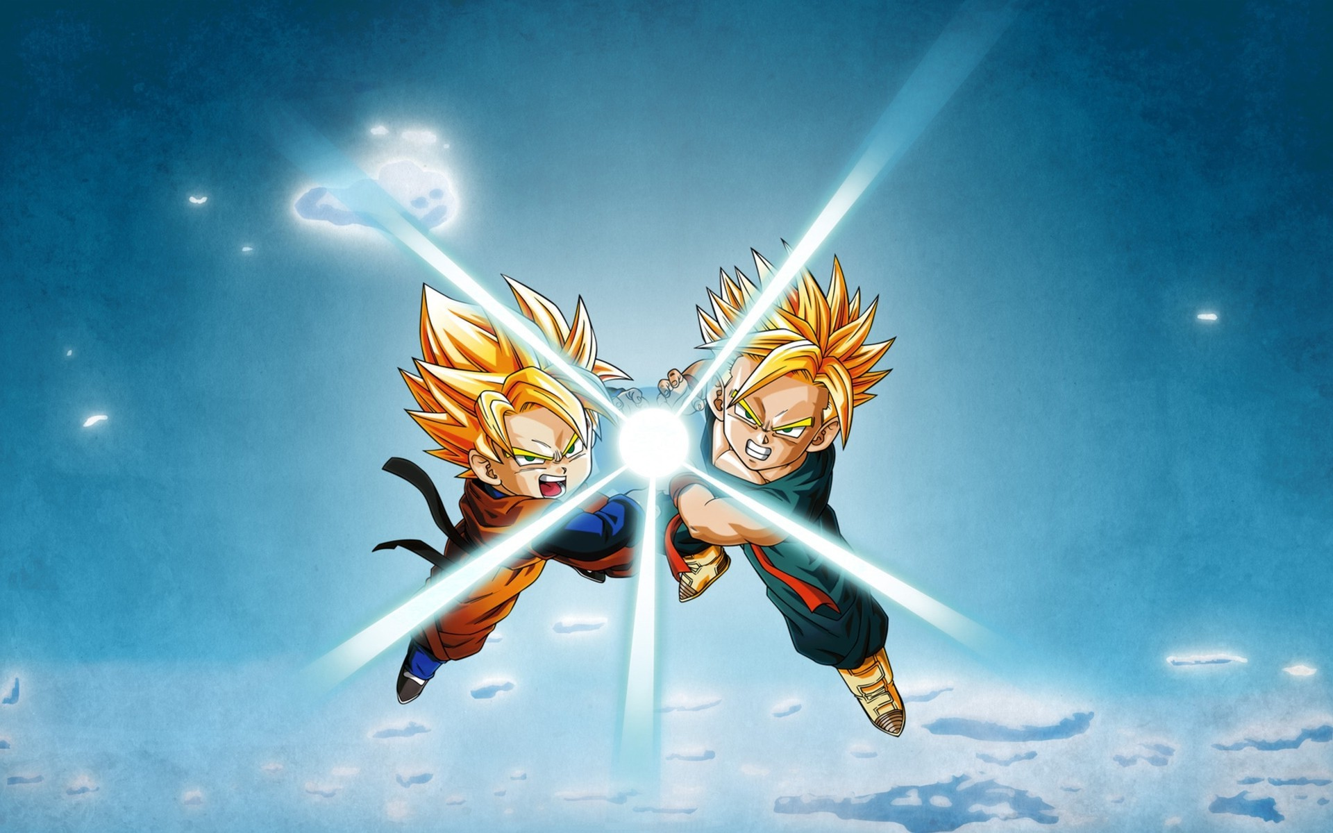 Goku And Gohan Kamehameha Wallpaper Posted By Christopher Walker