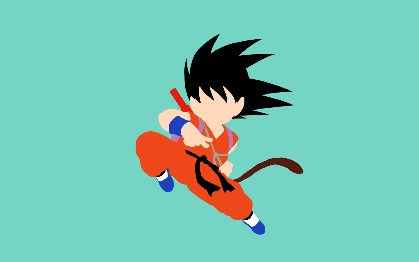 Goku Minimalist Wallpaper Posted By Michelle Thompson