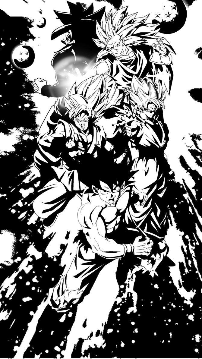 Goku Super Saiyan Black And White Posted By Samantha Walker