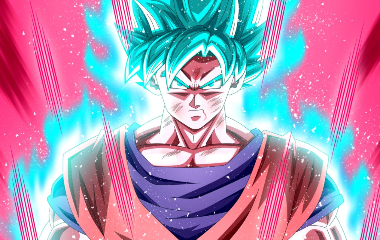 Goku Super Saiyan Blue Kaioken Wallpaper Posted By Michelle Sellers