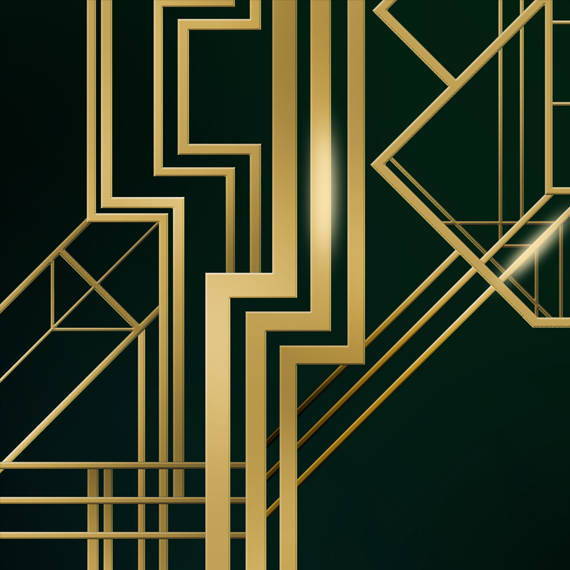 Great Gatsby Background Digital Banner Sign /& PSD 4ftx4.6ft