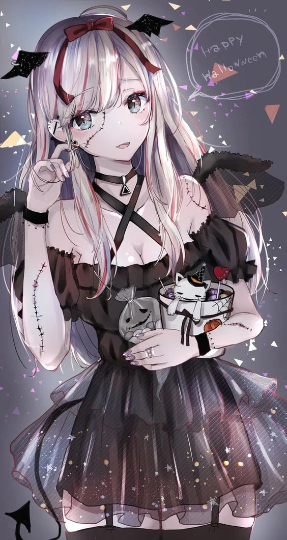 Halloween Anime Girl Posted By Samantha Thompson