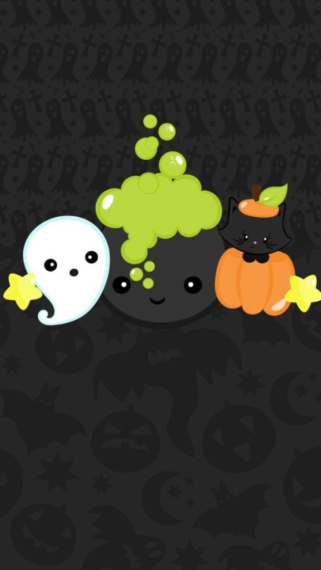 Halloween Kawaii Background Posted By Sarah Johnson