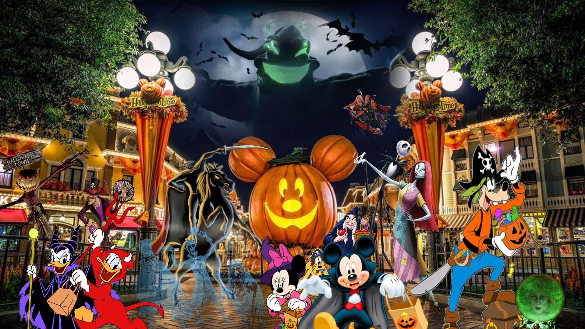 Disneyland Halloween Wallpaper by The Dark Mamba 995 on