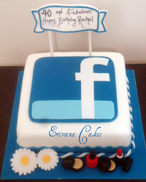 Wondrous Happy Bday Cake For Facebook Posted By John Simpson Funny Birthday Cards Online Elaedamsfinfo