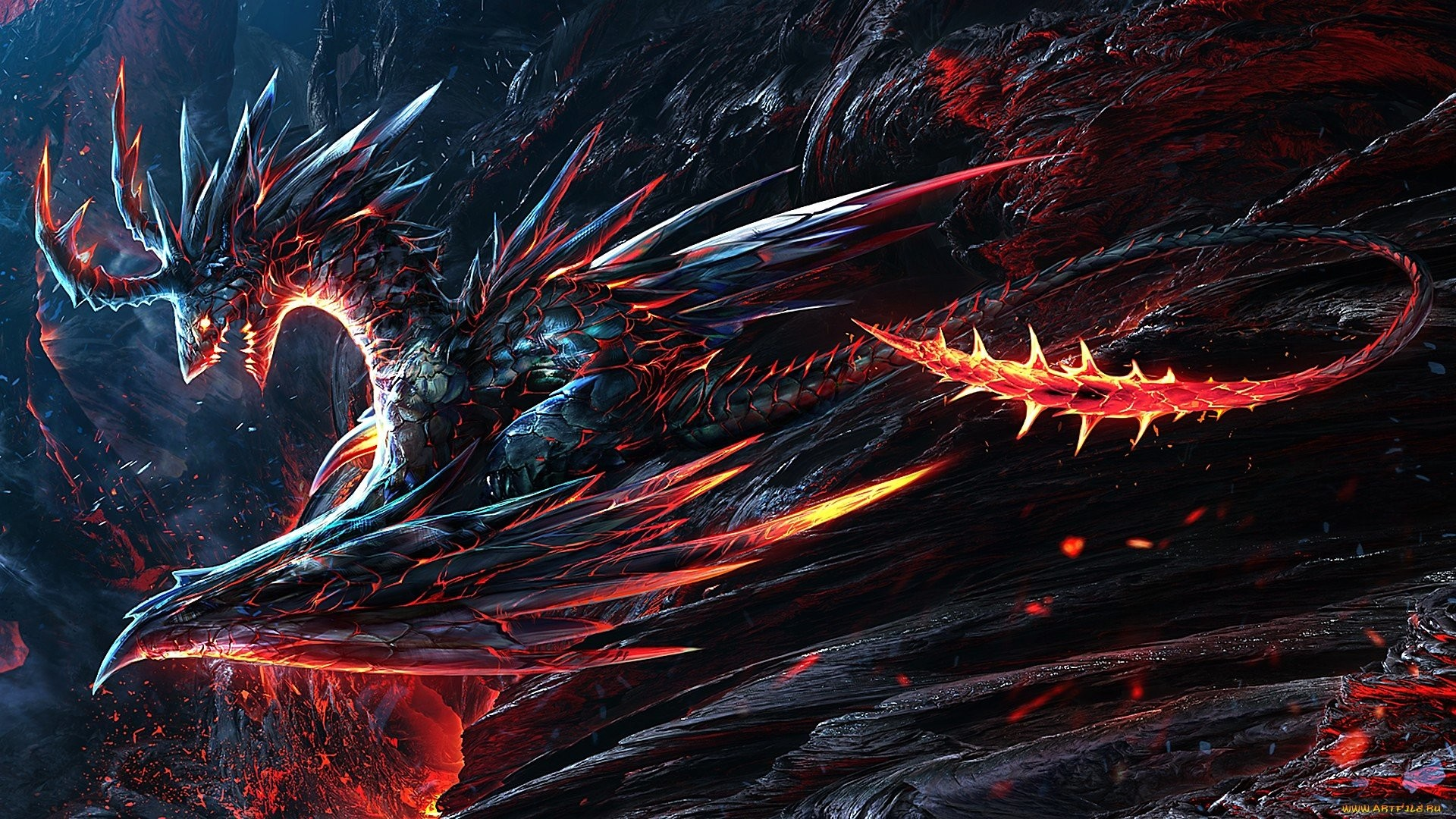 Hd Red Eyes Black Dragon Wallpaper Posted By Ethan Simpson