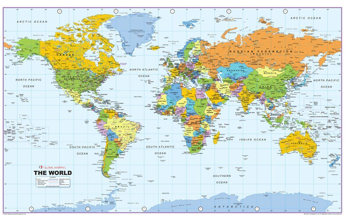 Hd World Map Posted By Ryan Thompson