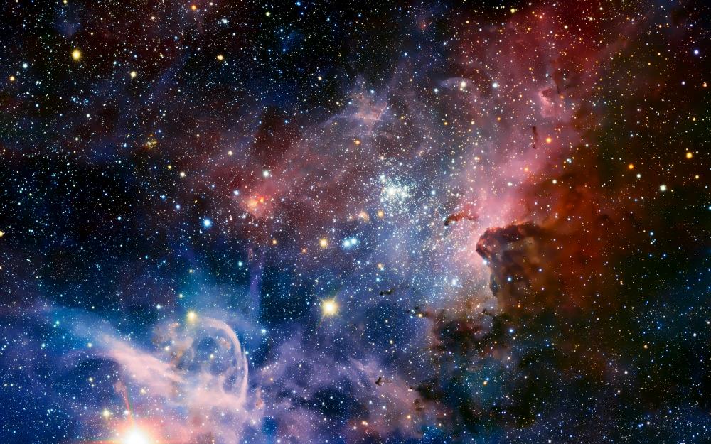 Wallpaper Nebula Stars Galaxy Colorful WallpaperMaiden