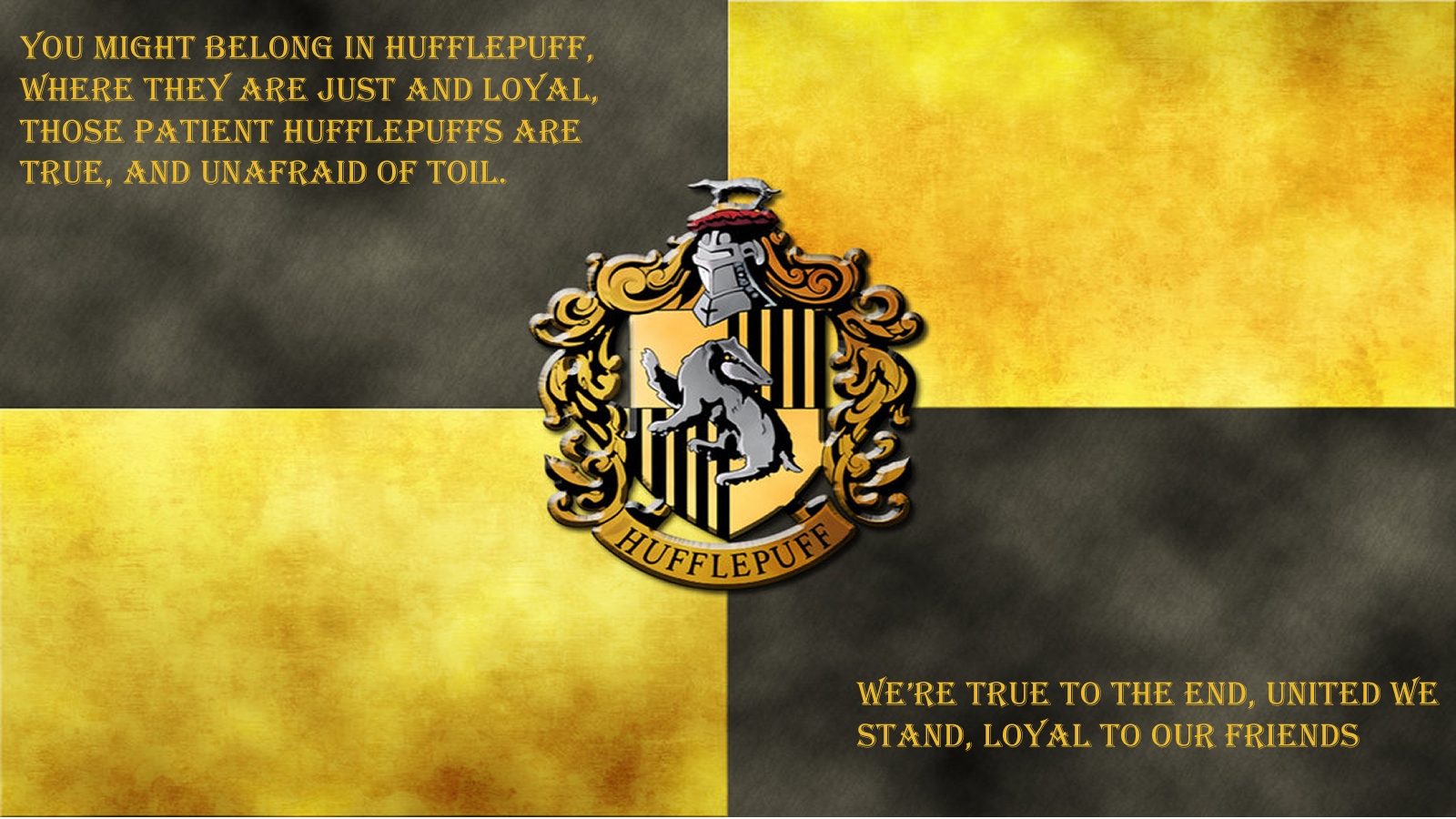 Hufflepuff Computer Background Posted By Ryan Cunningham