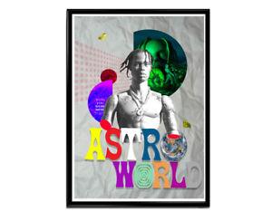 Music Pop Art Poster Travis Scott Astroworld Collage Poster Hypebeast Poster