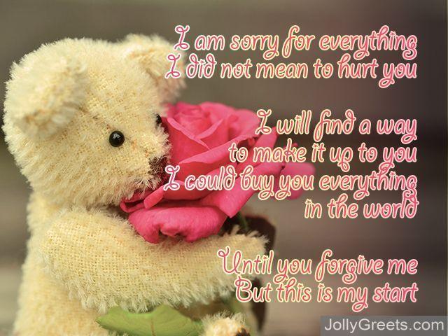 Poems romantic apology Love Poems