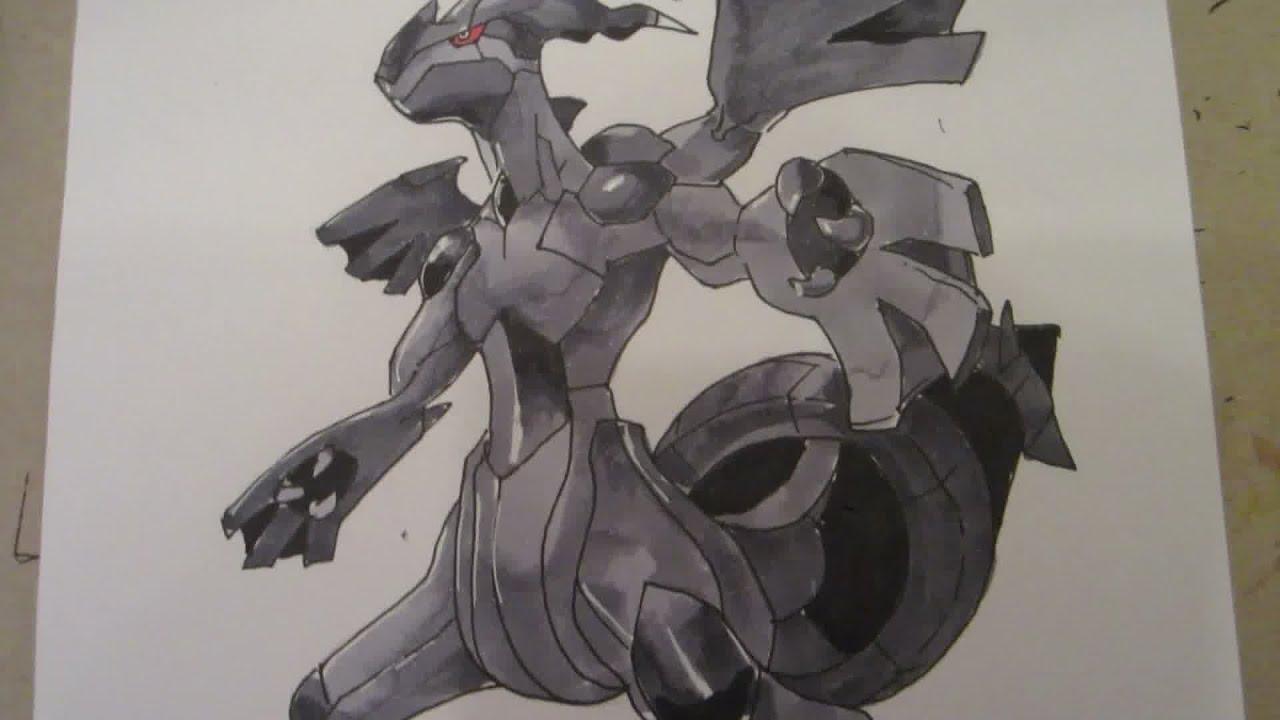 Pokemon Center Metal Charm # 644 Zekrom Zekrom Overdrive Key Chain
