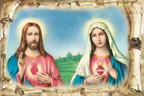 Sacred Heart of Jesus Immaculate Heart of Mary Poster