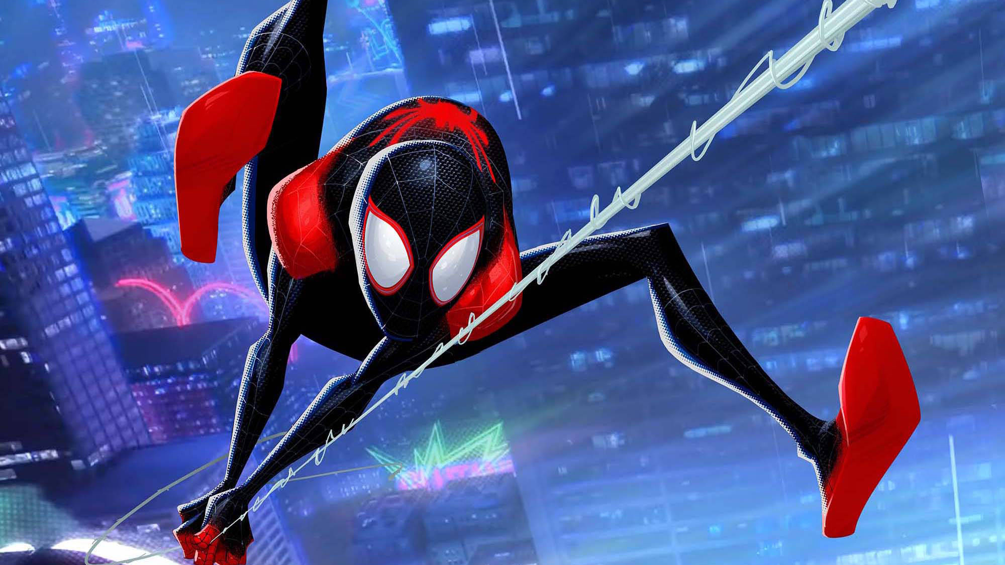 Into The Spider Verse Desktop Wallpaper Posted By Samantha Tremblay