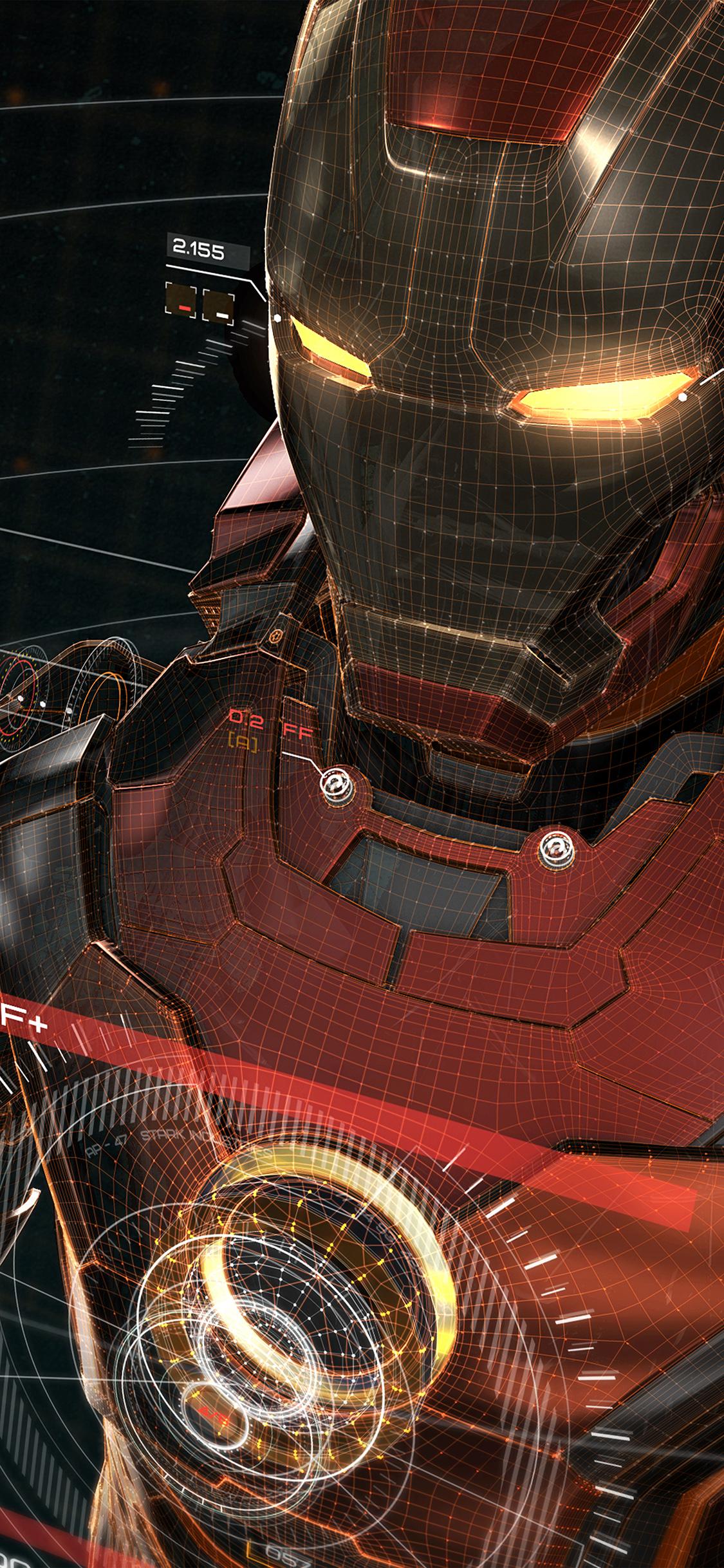 iPhoneXpapers.com iPhone X wallpaper aq05 ironman 3d red