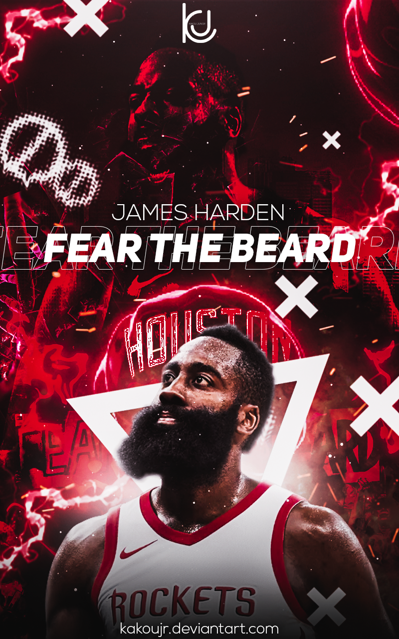 James Harden Fear The Beard Wallpaper Posted By Ethan Cunningham