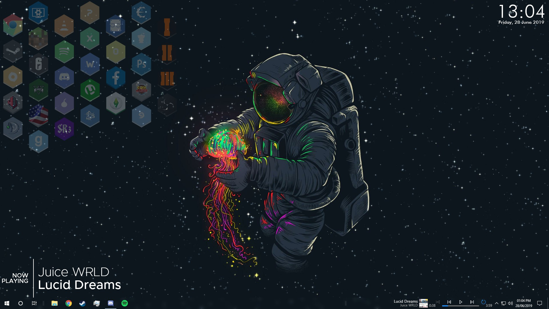 Thought id update my desktop Rainmeter