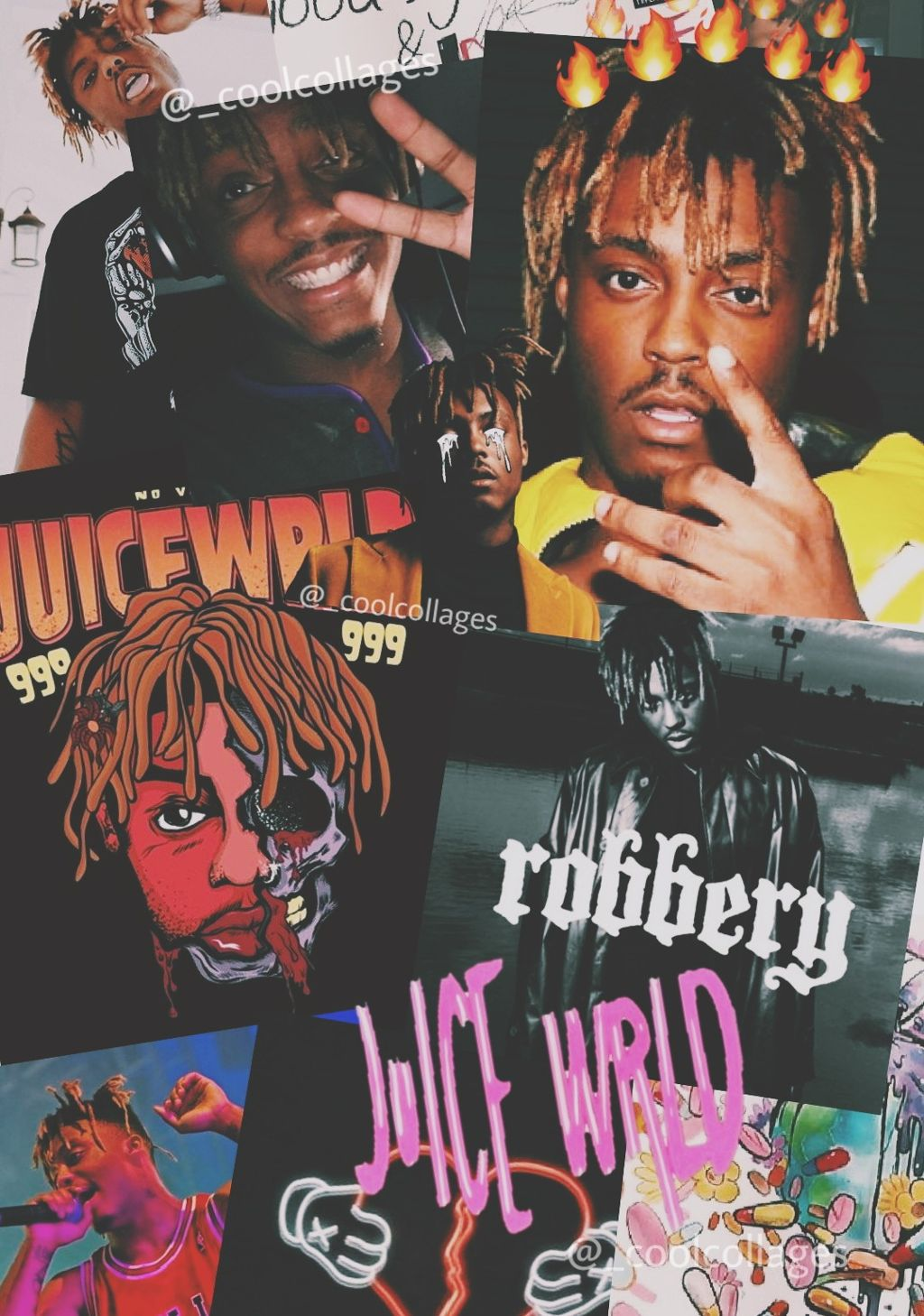 freetoedit Juice Wrld wallpaper I made for an edit I