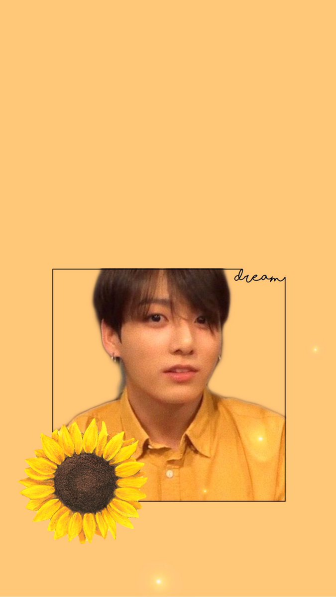 Yellow jungkook BTS wallpaper lockscreen Tweet added by
