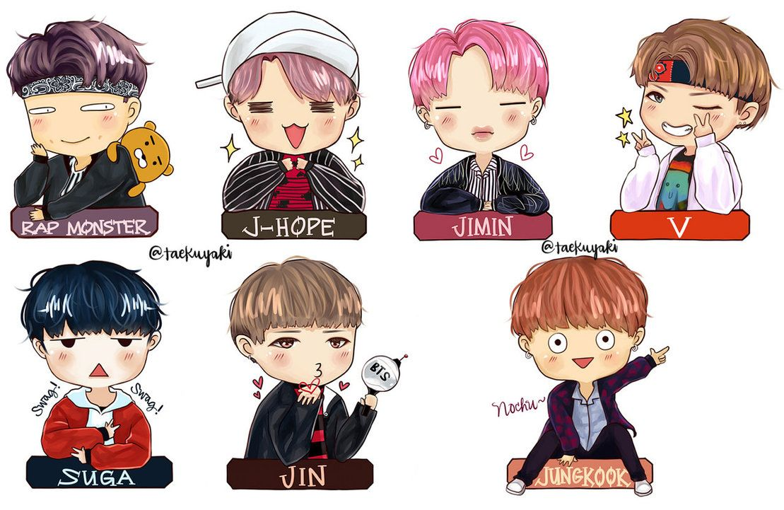 BTS Chibi Wallpapers Top Free BTS Chibi Backgrounds