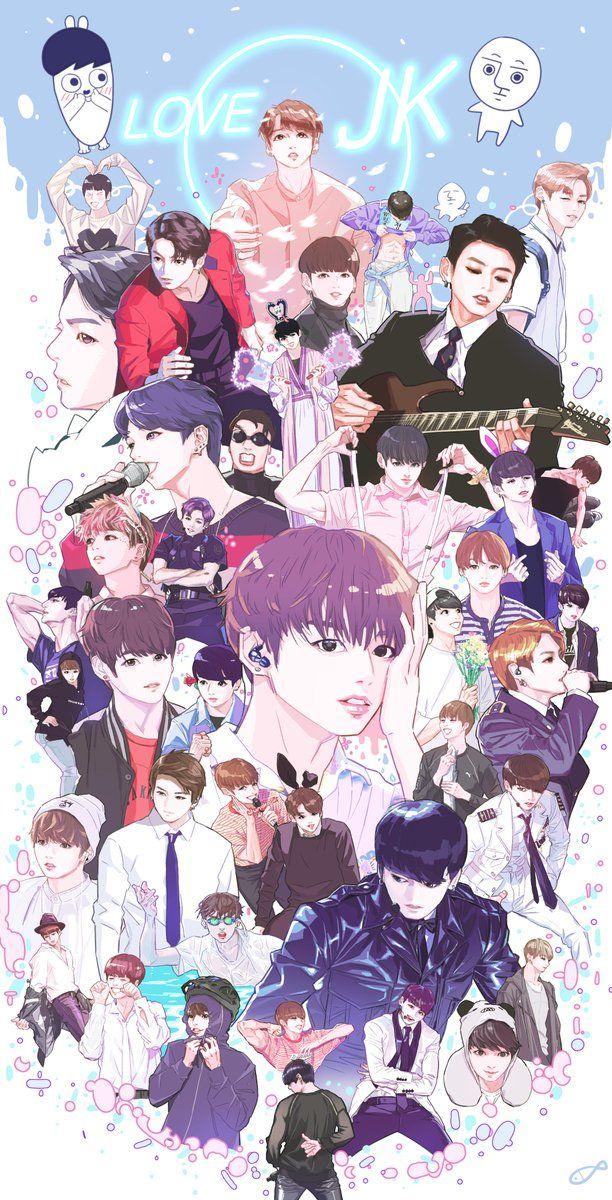 Twitter Kpop Fanart Jungkook fanart Fan art Bts chibi