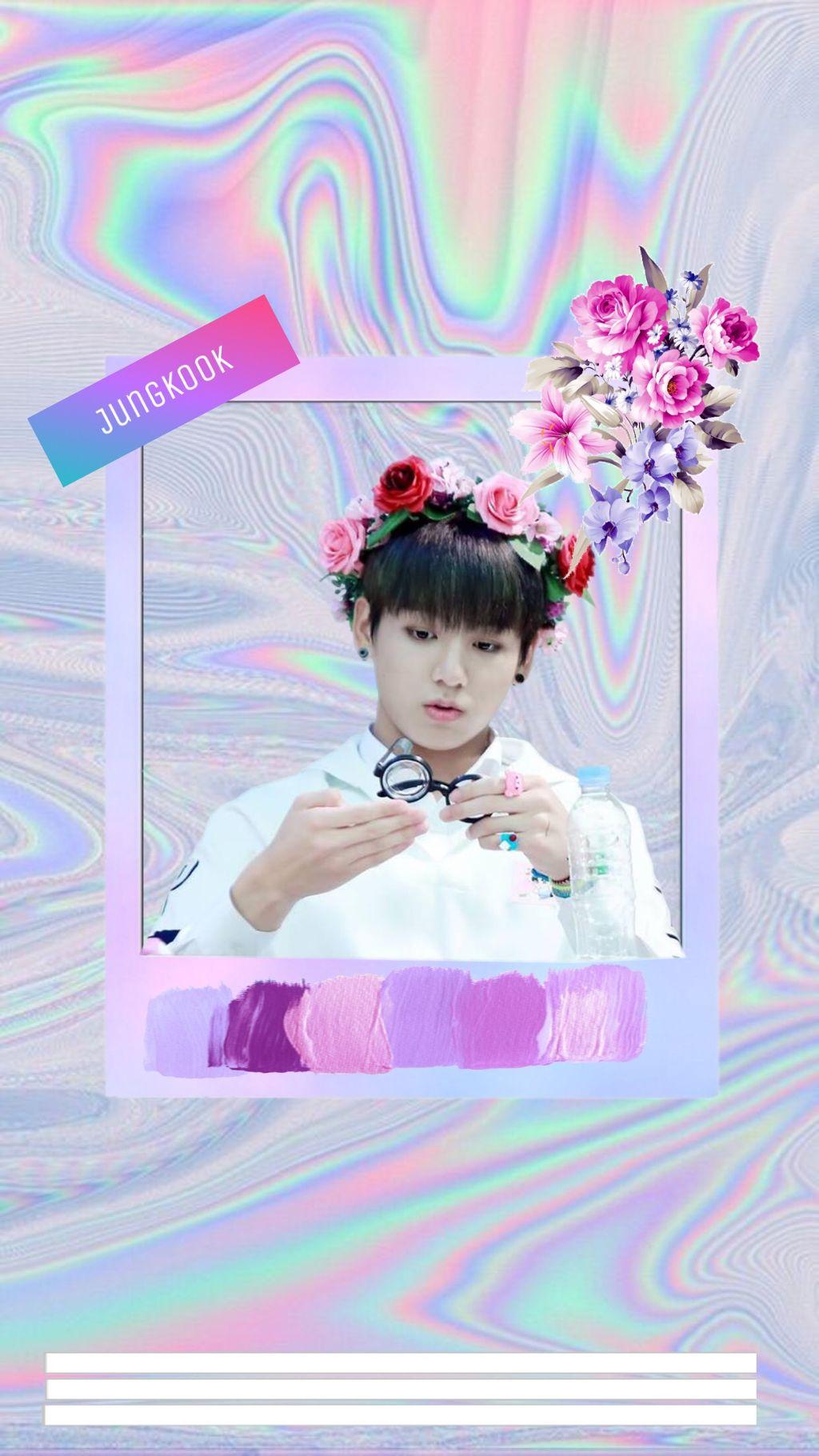 Wallpaper Cute Pink Kookie Baby BTS Jungkook Kpop Aesth