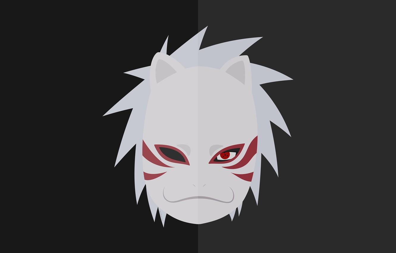 Wallpaper minimalism, mask, Naruto, Kakashi Hatake, the ANBU