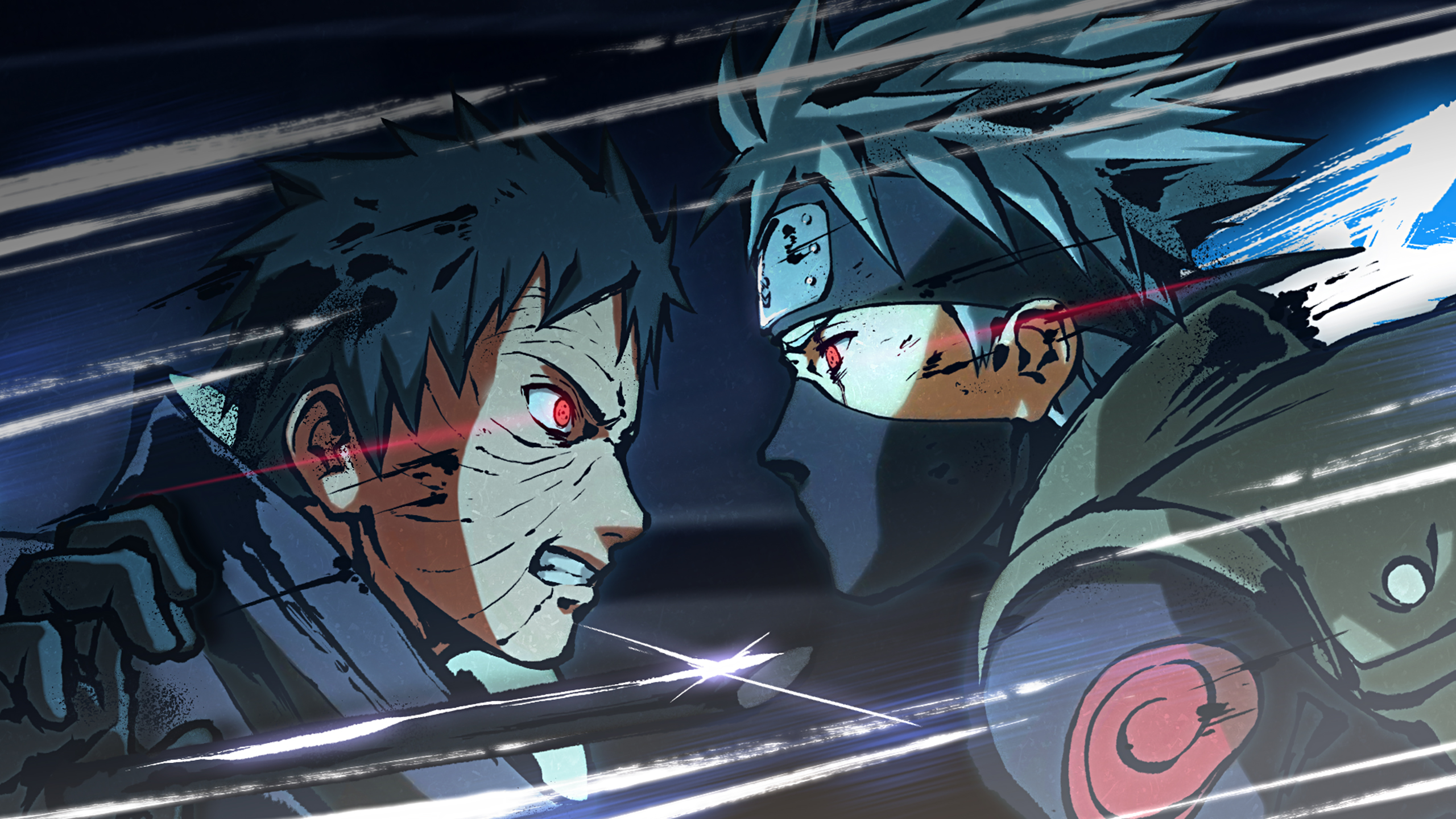 Ninjas blue eyes fire naruto shippuden sharingan anime