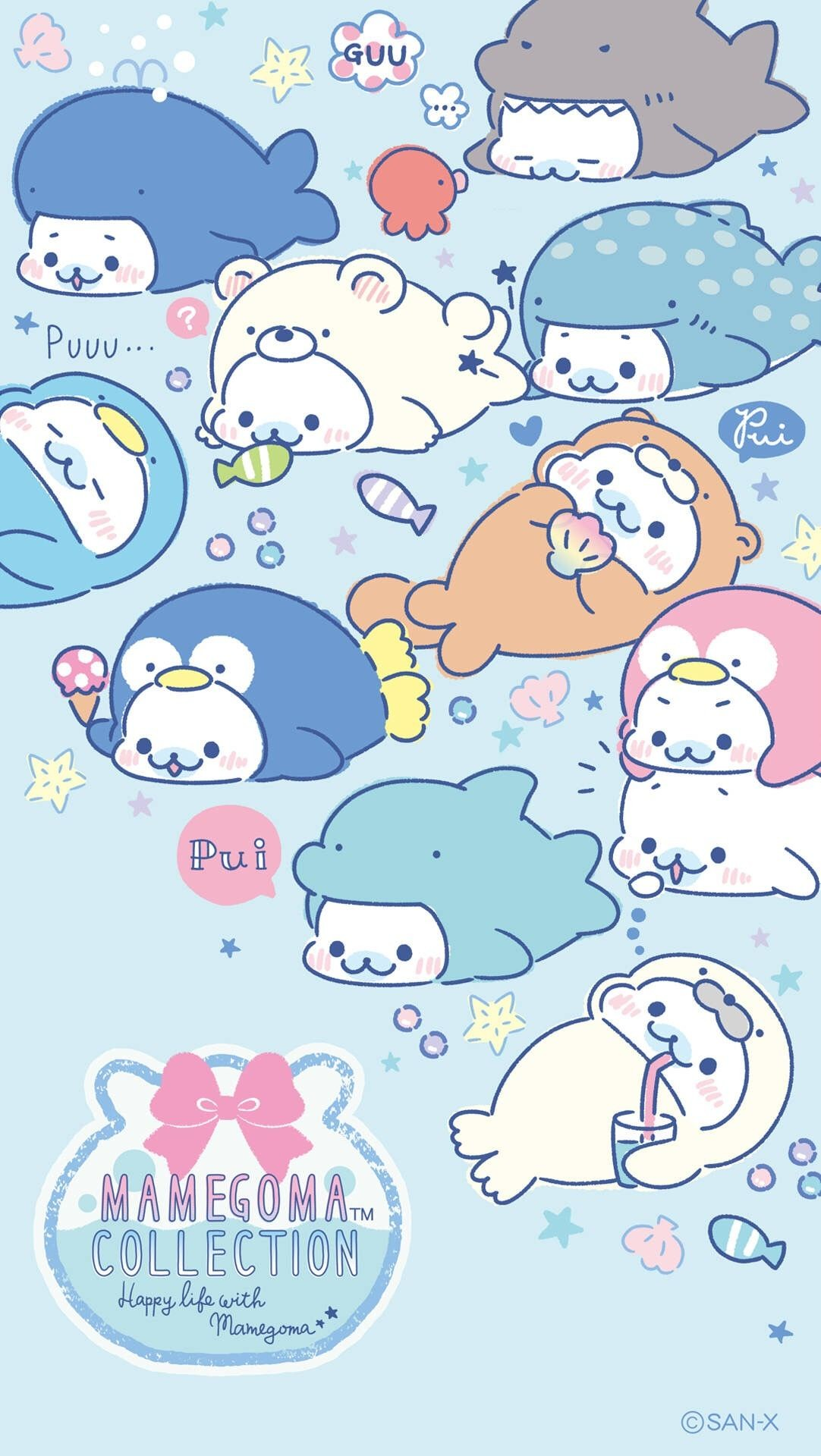 Kawaii Blue Wallpaper Posted By Sarah Simpson