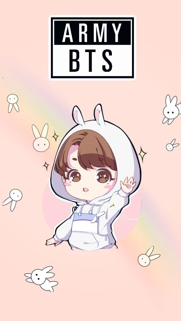 freetoedit jungkook bts army bunny wallpaper kawaii jeo