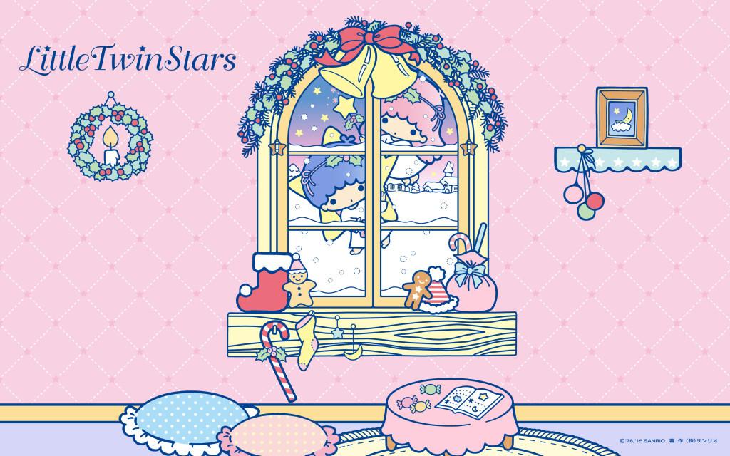 Cute Wallpapers New Little Twin Stars Christmas Wallpaper