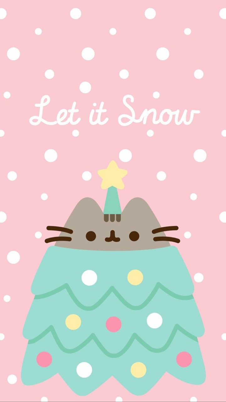Pusheen Christmas wallpaper discovered by