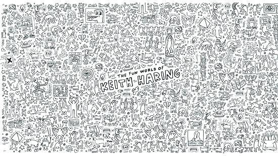 Keith haring 8 - Pop Art Coloring Pages for Adults - Just Color ... | 310x550
